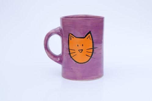 Cat Mug w/ patterned back