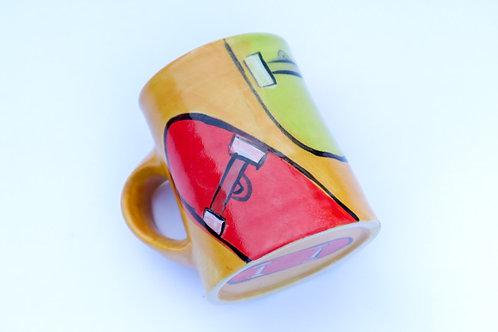 Yellow Skateboard Mug