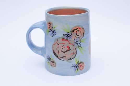 Light Blue Floral Mug