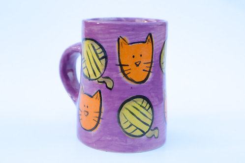 Cat Mug w/Pattern