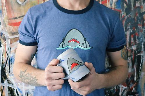 Shark- Ringer T-Shirt
