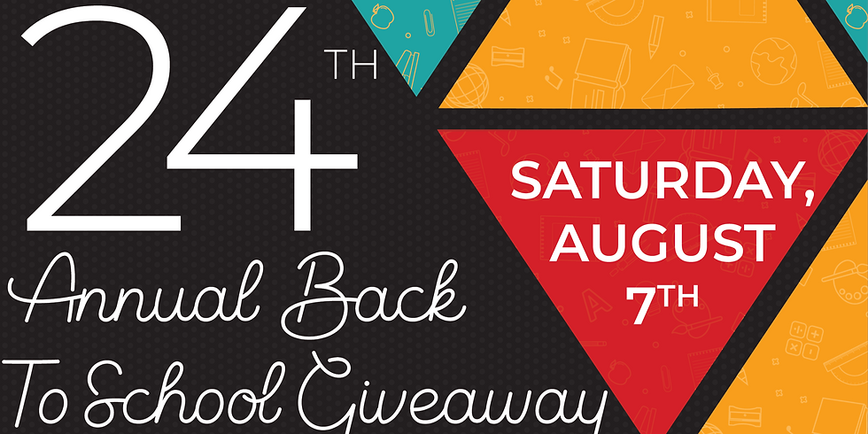 24th Annual Back to School Supply Giveaway