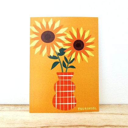 Les tournesols - Carte postale