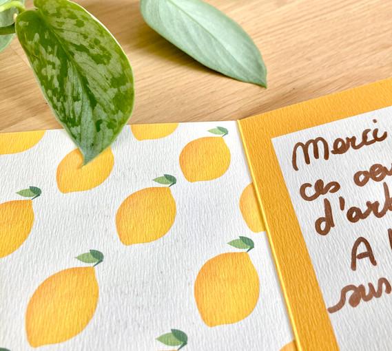 Motif citron à l'intérieur