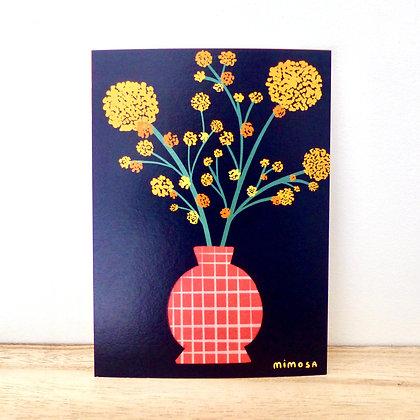 Le mimosa - Carte postale