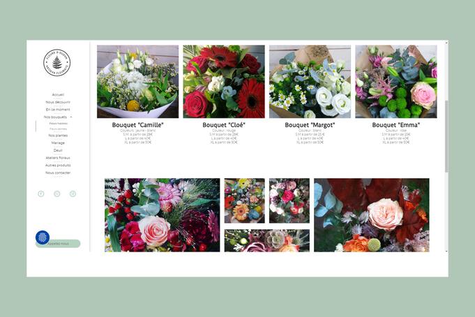 Création du site web de fleurs d'Oudon