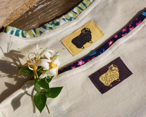 L'illustration imprimée en étiquette pour la collection en laine de mérinos