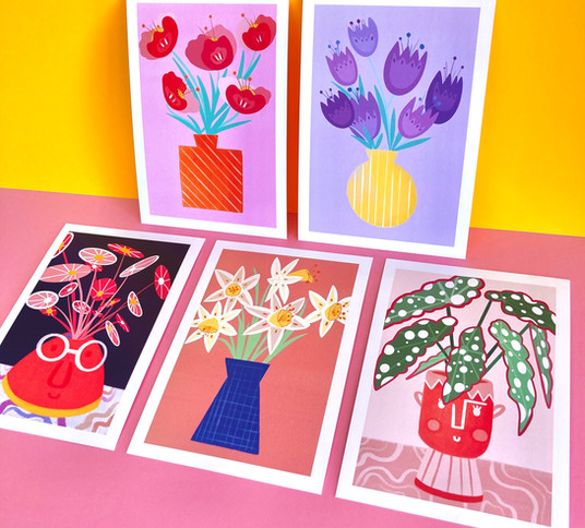 Quelques affiches florales