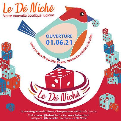 Slide 1 - Annonce ouverture - Le Dé Nich
