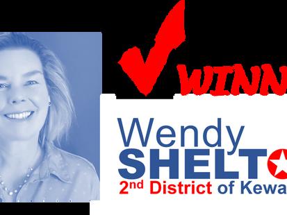 Winner: Wendy Shelton!