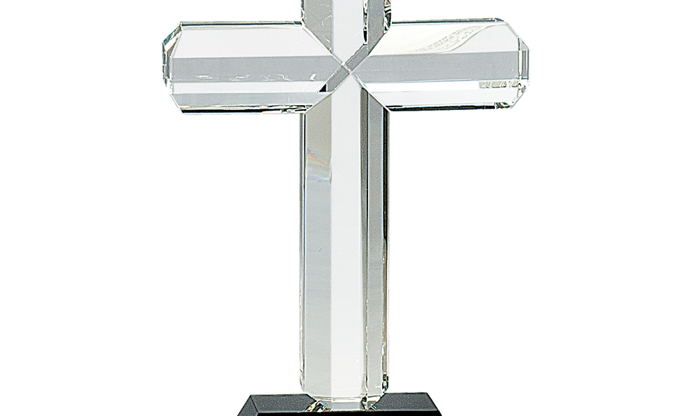 Crystal Cross with Base