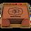 Thumbnail: Square Leatherette 6-Coaster Set