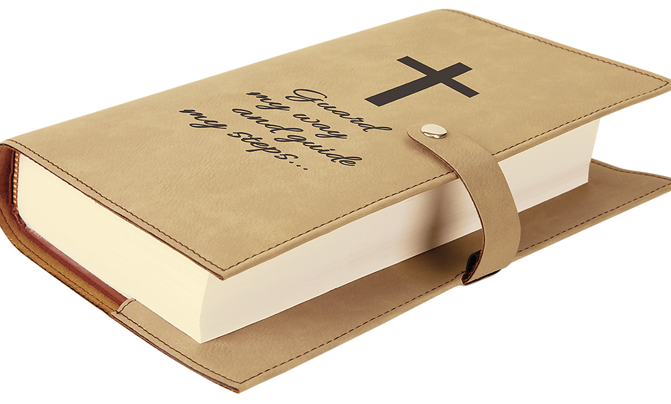 Leatherette Book/Bible Cover with Snap Closure