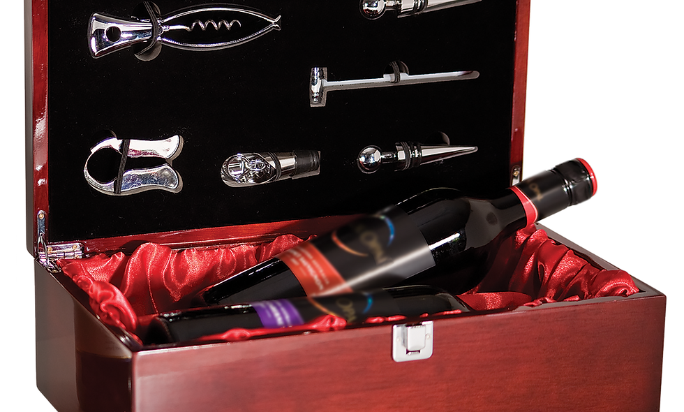 Double Wine Presentation Box with 6 Tools