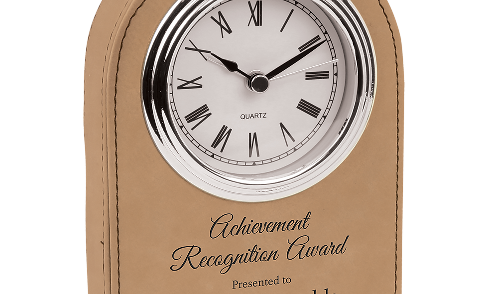 Leatherette Arch Clock