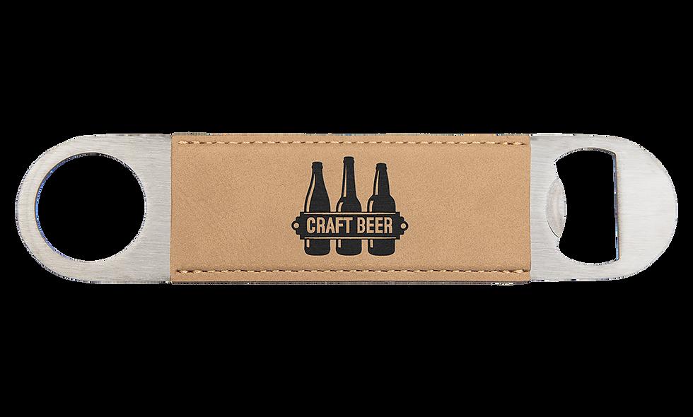 "7"" Leatherette Bottle Opener"