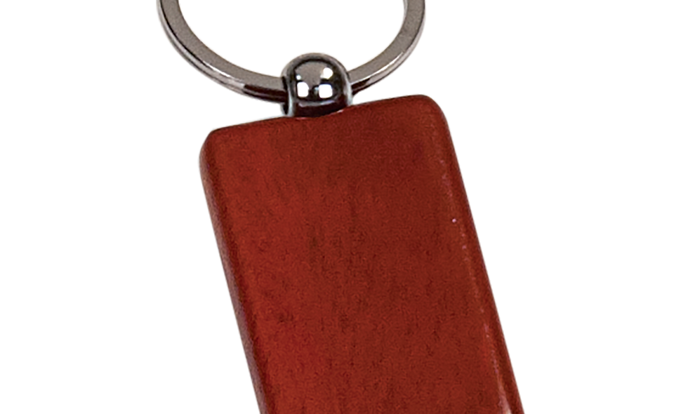 Wooden Rectangle Keychain
