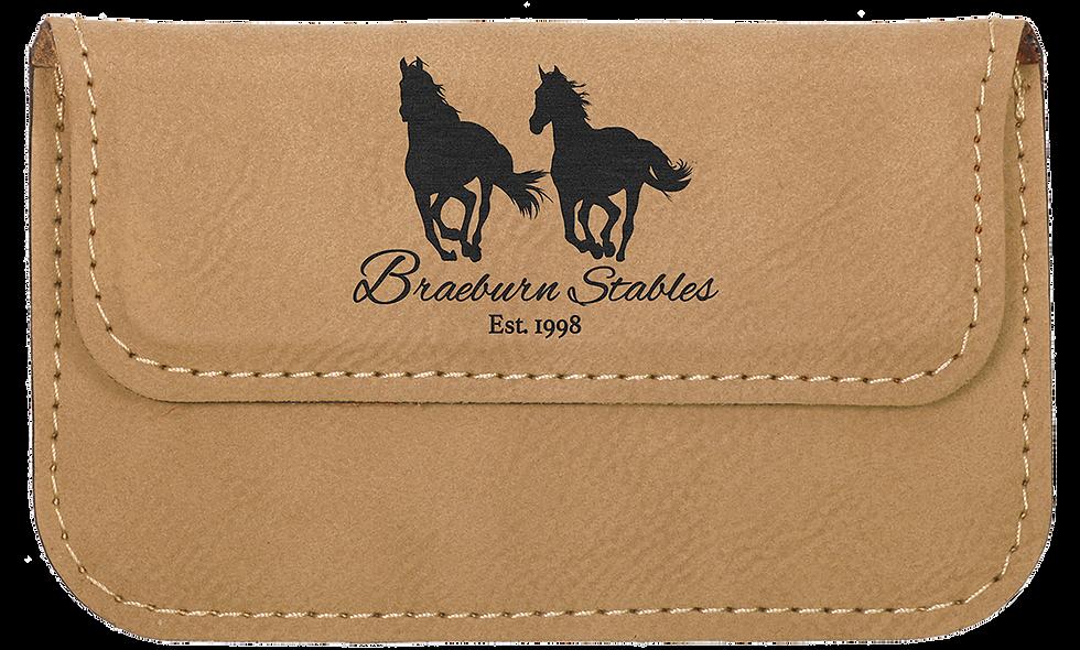 """Leatherette Flexible Card Case 4 ½"""" x 2 ¾"""""""