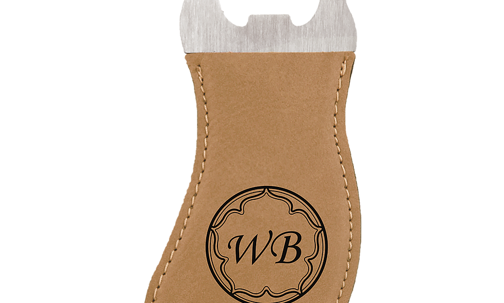 Leatherette Foot Shaped Magnetic Bottle Opener