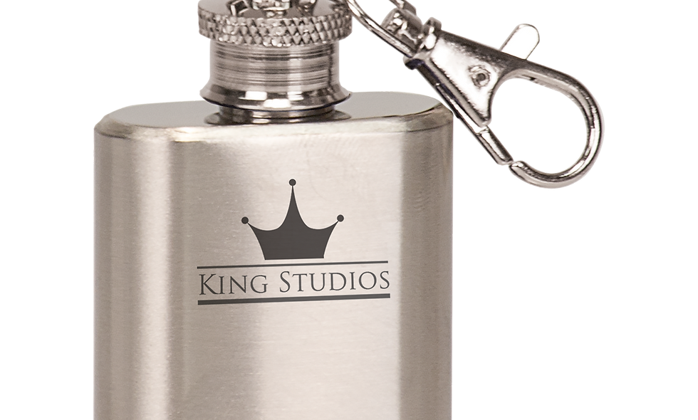1 oz. Stainless Steel Flask Keychain