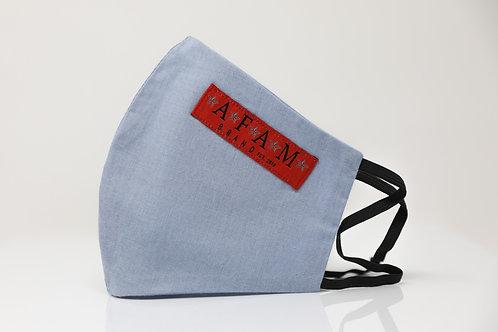 AFAM BRAND CUSTOM COTTON FACE MASK (Powder Blue/ Round Style)