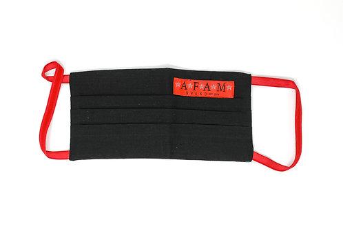 AFAM BRAND CUSTOM COTTON FACE MASK (Black/ Flat Style)