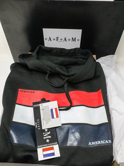 African American Pride Symbol Athletic Hoodie (Black)