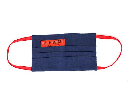 AFAM BRAND COTTON MASK (Navy/ Flat Style)