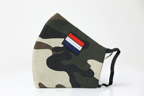 LIMITED EDITION (AFRICAN AMERICAN PRIDE SYMBOL) FACE MASK (Camo/ Round Style)