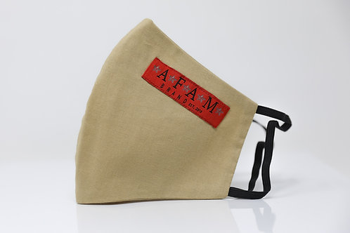 AFAM BRAND COTTON FACE MASK (Khaki/ Round Style)