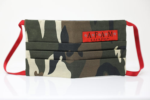 LIMITED EDITION AFAM BRAND MILITARY COMMEMORATIVE FACE MASK (Camo/ Flat Style)