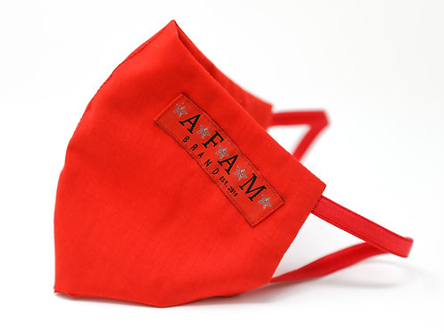 AFAM BRAND COTTON FACE MASK (Red/ Round Style)