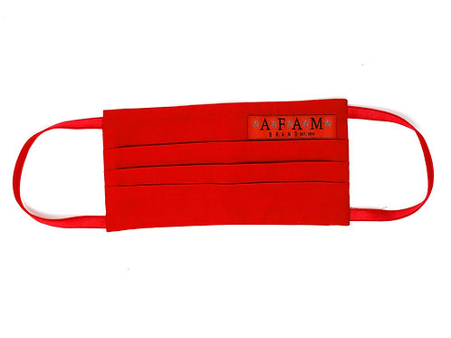 AFAM BRAND COTTON FACE MASK (Red/ Flat Style)