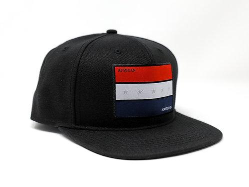 FLAGSHIP AFRICAN AMERICAN PRIDE SYMBOL (PREMIUM) SNAPBACK (Black)