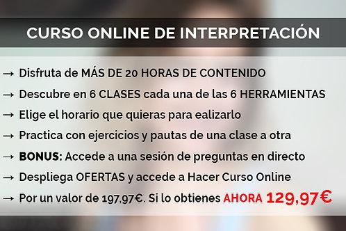 CURSO ONLINE DE INTERPRETACIÓN
