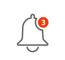 alarm notification with unread indicator
