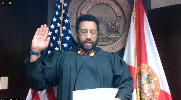 The Honorable Judge Darryl Manning Swearing in GEBA Ex