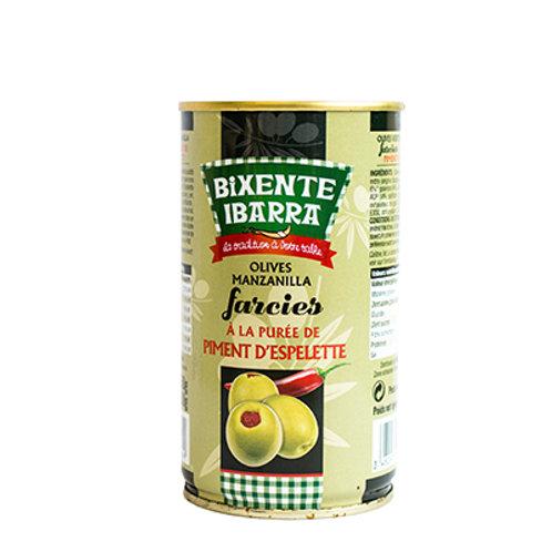 Olives manzanilla au piment d'Espelette