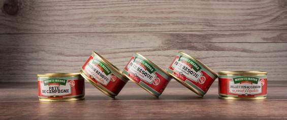 La gamme de pâtés boîte Bixente Ibarra