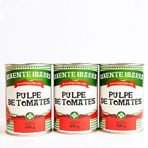 Pulpe de tomates (lot de 3 boîtes)