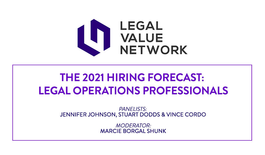 The 2021 Hiring Forecast: Legal Operations Professionals