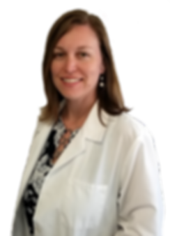 Photo of Dr Erin Rusing in White Clinicl Jacket
