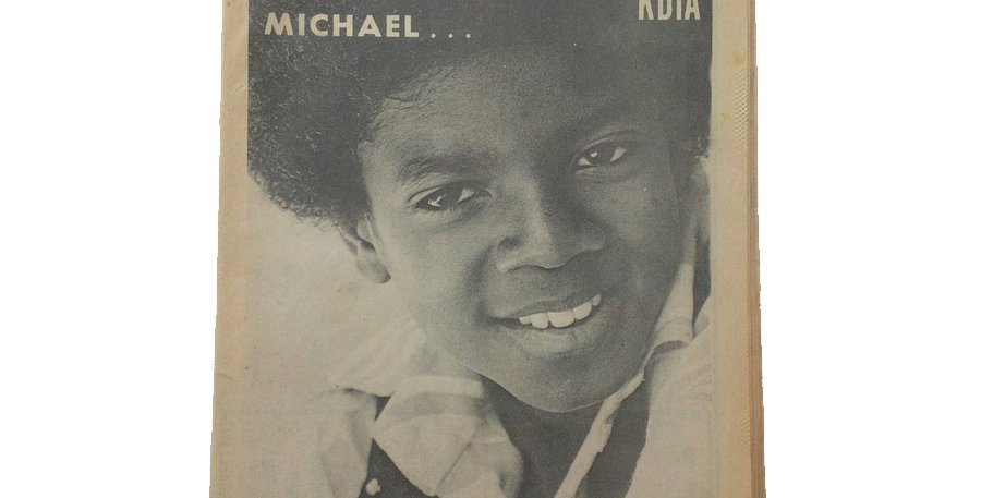 A young Michael Jackson on the cover of KDIA Soul