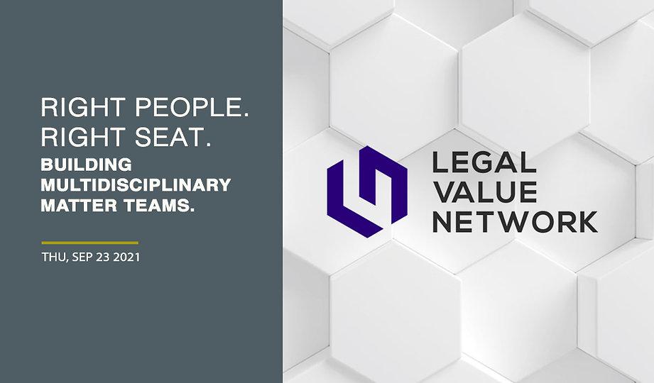 Right People. Right Seat. Building Multidisciplinary Matter Teams.