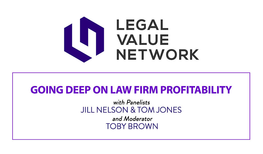 Going Deep on Law Firm Profitability