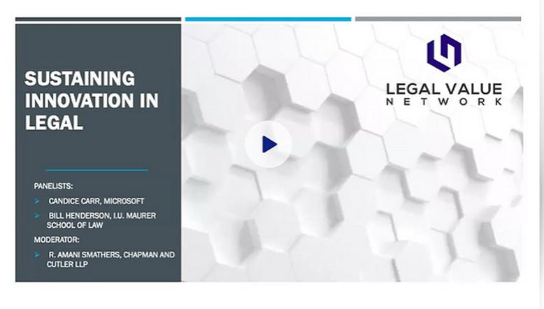 Sustaining Innovation in Legal