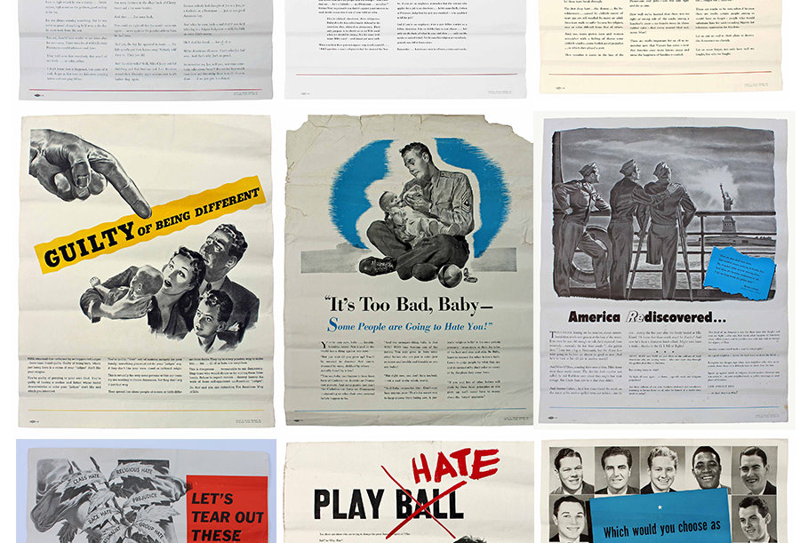 Collection of nine posters promoting religious and racial tolerance in the U.S.