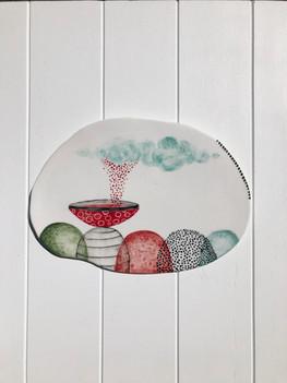 SOLD Porcelain Hanging no:29