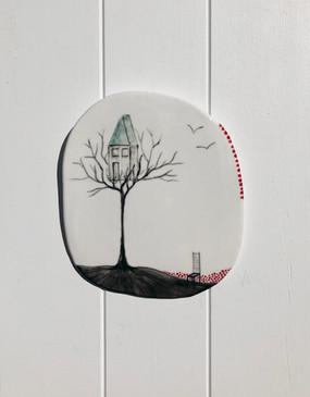 SOLD Porcelain Hanging no:28
