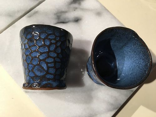 Shot Glass -Indigo Dragon Egg